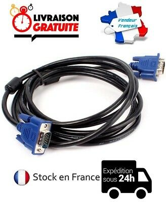 Cable Video VGA Male / Screen PC Monitor 1M50/3M/5M/10M /15M • 4.46£