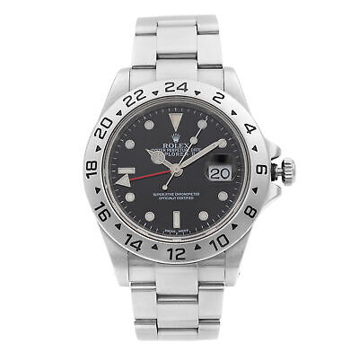 $ CDN8946.12 • Buy Rolex Explorer II 40MM Steel Black Dial Red Hand Automatic Mens Watch 16570