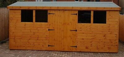 SHED/WORKSHOP 16x8 Heavy Duty T&G 3x2 Framing FREE DELIVERY And FITTING • 1,090£