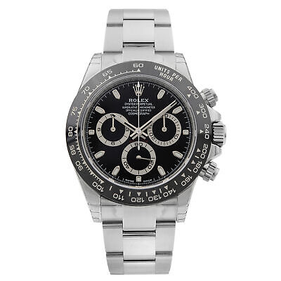 $ CDN37245.46 • Buy Rolex Daytona Cosmograph Stainless Steel Ceramic Black Dial Mens Watch 116500LN