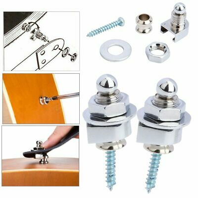 $ CDN12.29 • Buy 2/4/6 Pack Guitar Bass Strap Lock Schaller Style Straplocks Metal Button +Pad US