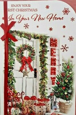 First Christmas In Your New Home Card ~ Traditional Design ~ Quality Card • 2.59£