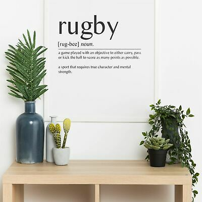 £6.99 • Buy RUGBY Definition Quote Wall Print | Home Decor Wall Art Picture Poster