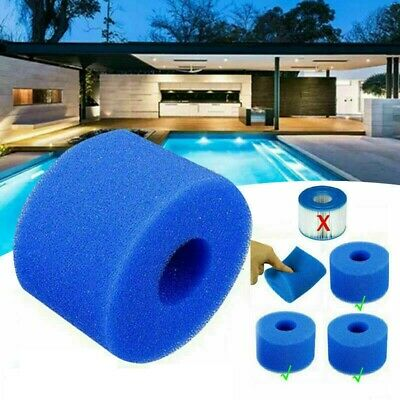 6/12x Lay In Clean Spa Hot Tub S1 Washable Bio Foam VI LAZY Filter Reusable • 13.99£