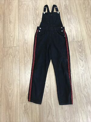 Girls Dungarees Age 10 To 11 Years Black Denim D3748 • 9.99£