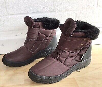 Ladies Pavers Winter Boots Size 5 EUR 38 Ankle Fur Lined Snow • 19.99£