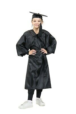 Kids Children's Primary School Graduation Gown And Cap Shiny Age 5-10 Years  • 8.99£