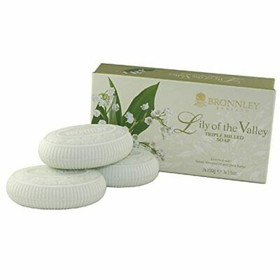 Bronnley Lily Of The Valley 3 X 100g Triple Milled Soaps • 6.98£
