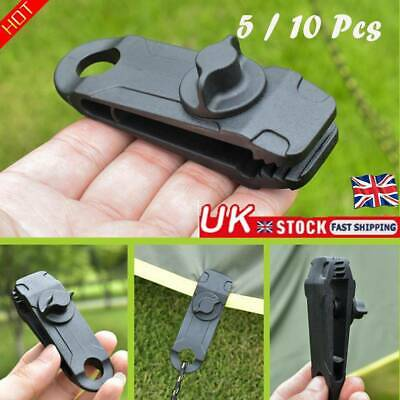 5/10Pcs Reusable Tent Tarp Tarpaulin Clip Clamp Buckle Camping Tools Heavy Duty • 4.87£