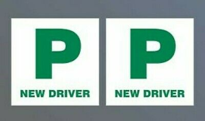 Halfords P Plates New Driver X 2. Magnetic. New.  • 3.99£