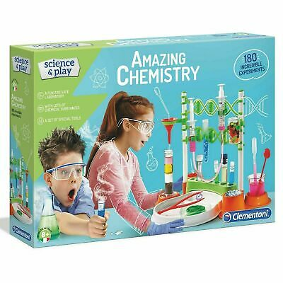 AU55.21 • Buy Clementoni Amazing Chemistry Experiment Kit, Science & Play, Kids Ages 8 Years +