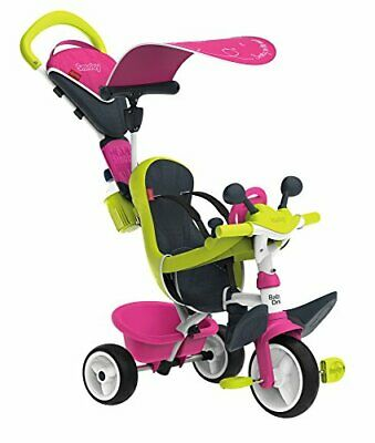 Smoby Pink Comfort Trike With Parent Handle | Push Along Baby Tricycle With A • 119.99£