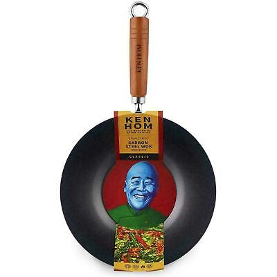 £18.28 • Buy Ken Hom Classic Carbon Steel Non-Stick Coated Wok, Authentic Asian Cooking, 27cm