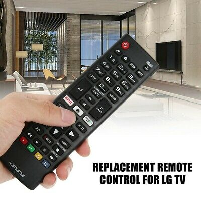 Replacement Remote Control For LG TV Netflix Amazon Buttons Black UK Stock • 3.99£