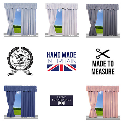 £34.99 • Buy Caravan Curtains Basket Weave Fully Lined Ready Made Quality Made To Measure