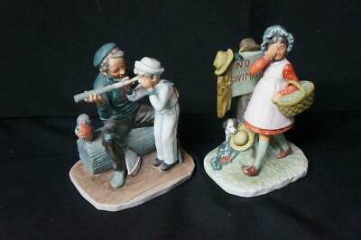 $ CDN32.43 • Buy 2 Vintage Norman Rockwell Gorham Porcelain Figurines, Captain, No Swimming