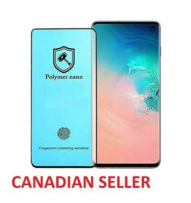 $ CDN7.99 • Buy Polymer Nano SCREEN PROTECTOR FOR SAMSUNG GALAXY S8 S9 S10 S20 + PLUS NOTE 10 20