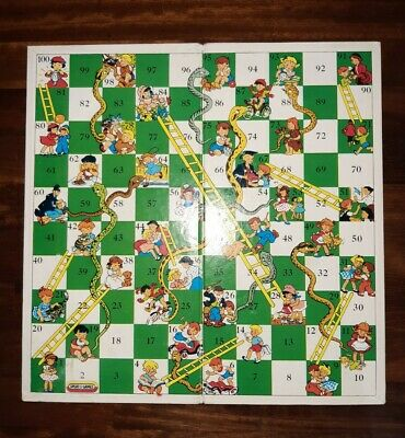 Vintage Spears Games Snakes & Ladders Board Only. • 7.99£