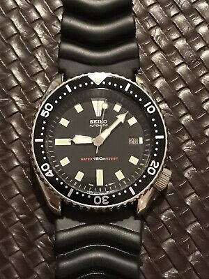 $ CDN190.09 • Buy Seiko Automatic Date 7002-7001 Black Vintage Diver Men's Watch Patina Jun 1995