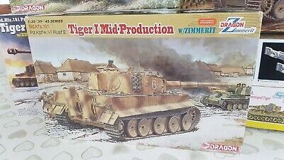 1/35 Tiger 1 (mid)  By Dragon  6700 With Zimmerit • 67£