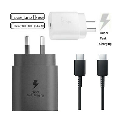 AU33.99 • Buy Samsung Galaxy Note 20 10 S20 S21 Plus Ultra Super Fast Wall Charger 25W USB-C
