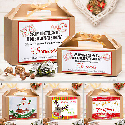 Personalised Christmas Eve Gift Box | Xmas Favour Present | Large & Small Sizes • 3.99£
