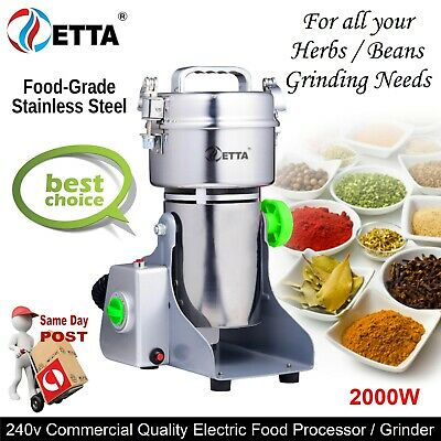 AU169 • Buy COMMERCIAL 240v FOOD PROCESSOR GRINDER COFFEE BEAN NUTS SPICES HERBS KITCHEN