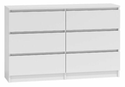 MODERN - White Chest Of Drawers Slim Space Save - Matt Finished • 99.99£