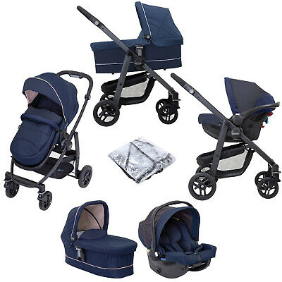 Graco Evo Trio (Snug Essentials I-Size Car Seat) Travel System With Carrycot • 336.99£
