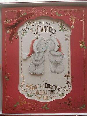 Me To You Bear Lovely Fiancee Giant Boxed Christmas Card • 9.99£