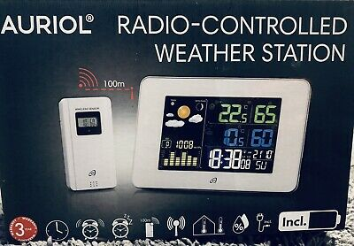Weather Station With Radio Control Clock Indoor / Outdoor.Auriol.white • 27.40£