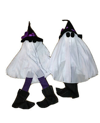 $ CDN15 • Buy 2 Piece Lot, Halloween Decor Ghost Witch's, Purple And Black Flowing Ghost Witch