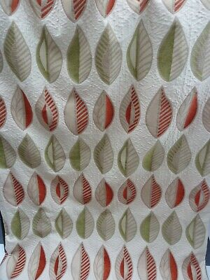 £49 • Buy Pair Of Fully Lined Curtains Champaign Colour With Leaf Pattern. W. 87  X D. 84