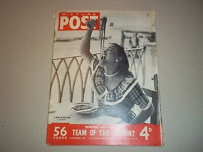 Picture Post Magazine  24 September 1949 Wolverhampton Wanderers Positano • 6.50£