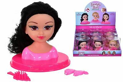 Girls Fashion Hair Styling Dolls Head Glamour Play Set Kids Childs Toy New Boxed • 6.97£