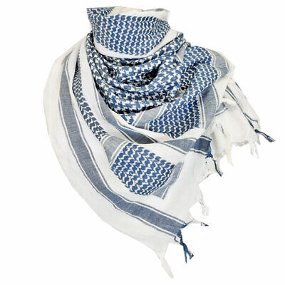 £19.90 • Buy Shemagh Scarf Combat Army Style Camping Sport Neck Warmer Keffiyeh Scarves Blue
