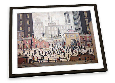 L.S Lowry Coming From The Mill FRAMED ART PRINT Picture Poster Artwork • 21.99£