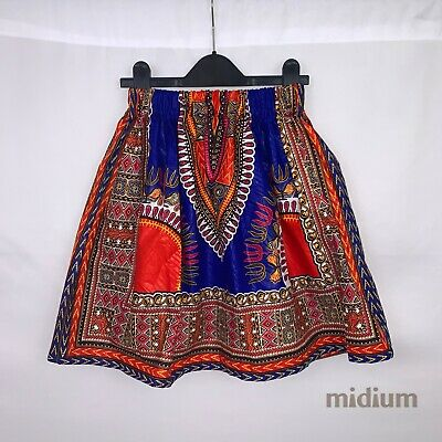 Blue & Red Dashiki/African Print Skirt For Girls And Toddlers • 15£