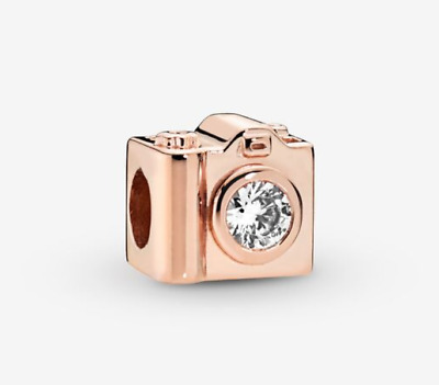 New Authentic 787986CZ Pandora Rose Gold Charm Camera # Bead • 14.99£