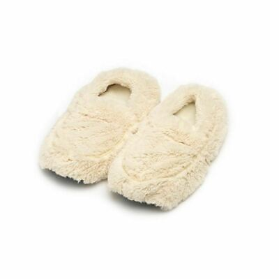 £15.98 • Buy Warmies Cozy Cream Slippers - Microwavable Plush Foot Warmer Gift