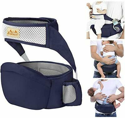 Viedouce Hip Seat Baby Carrier With Safety Belt Protection, Pure Cotton, • 34.09£