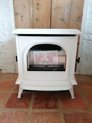 Gazco Huntingdon 20/30/40 Conventional Flue Log Effect Stove White • 1,000£