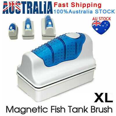AU19.64 • Buy Magnetic Fish Tank Brush Algae Magnet Aquarium Glass Aquatic Cleaner Cleaning XL