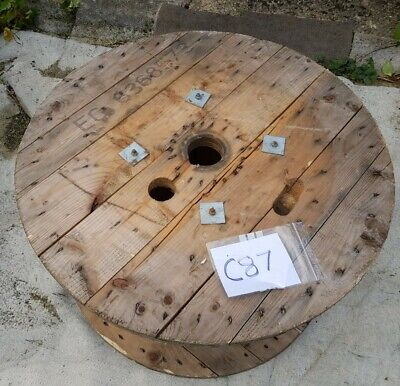 Large Wooden Cable Drum Reel (Wood Spool) Free Local Delivery [C87] • 50£