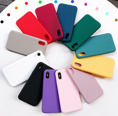 Case For IPhone 12 11 Pro Max SE 2 XR X XS Max 7 8 Plus Soft Silicone Shockproof • 3.49£