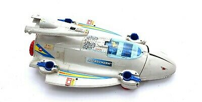 Vintage Manta Force Astro Shark SpaceShip Rare Bluebird Toy Vehicle With Figures • 34.89£