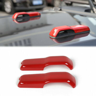 AU28.47 • Buy Car Hood Hinge Cover Trim ABS Red Accessories For Jeep Wrangler JL Gladiator