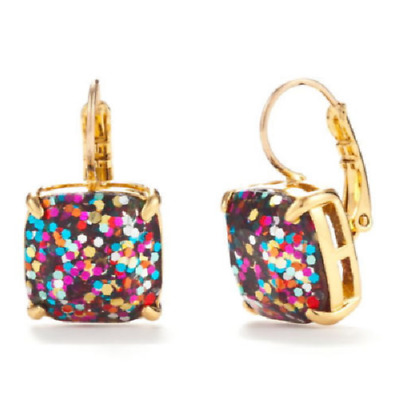 $ CDN38.15 • Buy KATE SPADE Multi Glitter Square Leverback Earrings