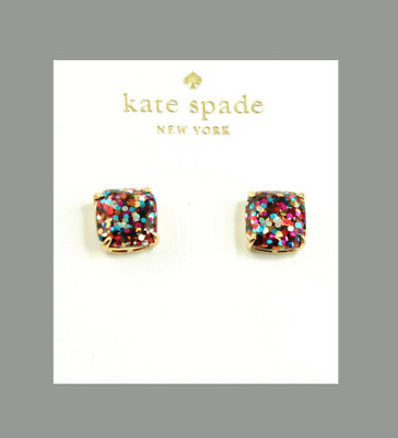 $ CDN33.16 • Buy Kate Spade New York Multi Glitter Mini Square Stud Earrings NEW