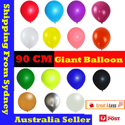 AU1.53 • Buy 90CM Big Giant Jumbo Balloon Latex Balloons Large Birthday Wedding Party AU